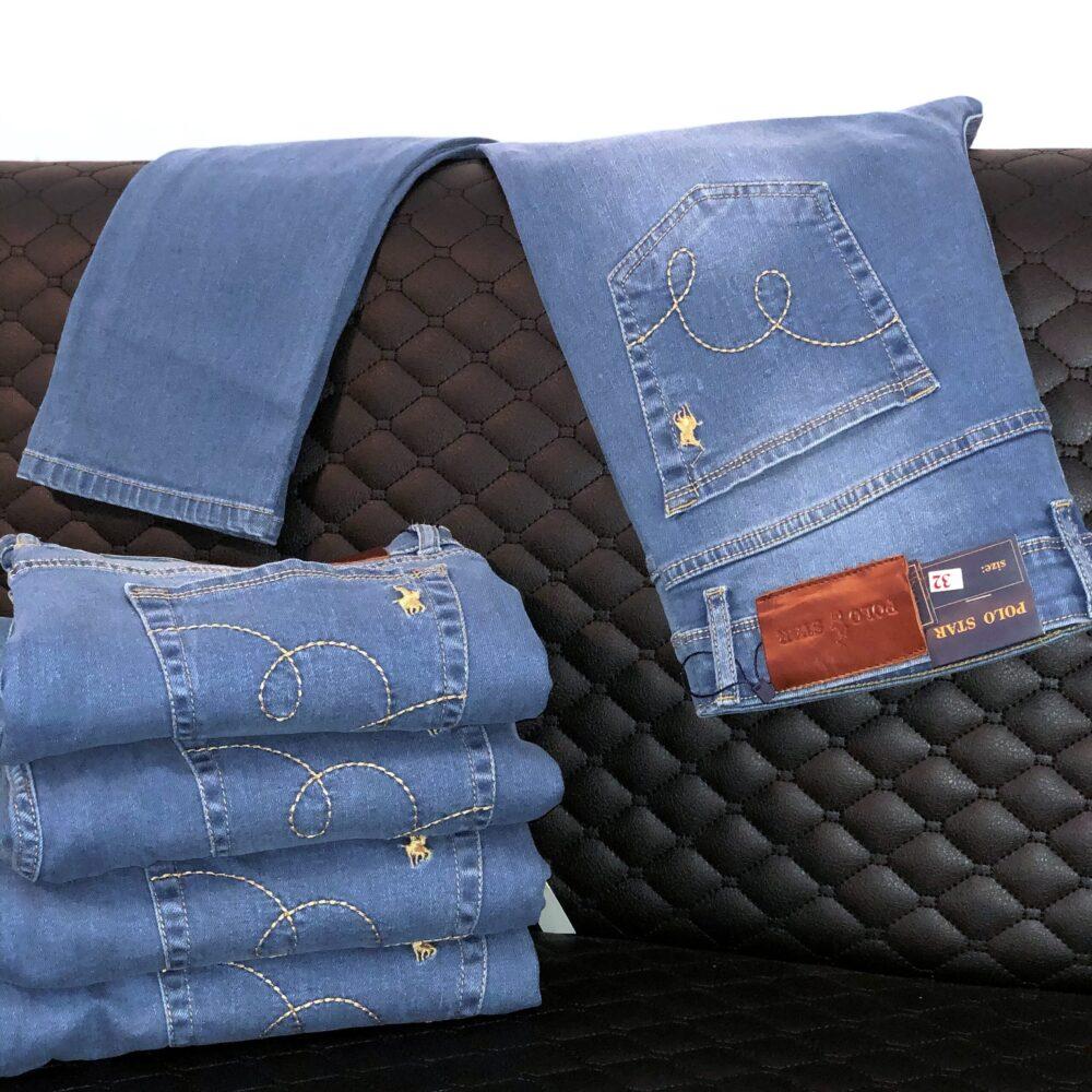 شلوار جین آبی رگولار پولو استار