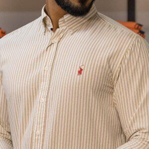 پیراهن مردانه راه راه رگولار پولو استار