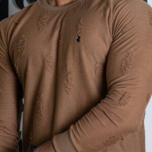 تی شرت آستین بلند زاپ دار اسلیم پولو استار