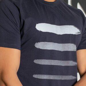 تی شرت یقه گرد راه راه اسلیم پولو استار
