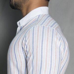 پیراهن آستین بلند راه راه پولو استار