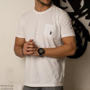 تی شرت یقه گرد جیبدارکلاسیک پولو استار